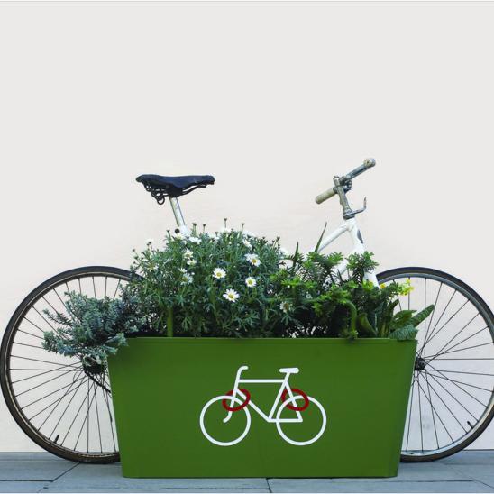 Secure Green Bike Parking